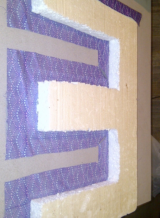 Diy project up cycled fabric covered letters the budget for Fabric covered letters