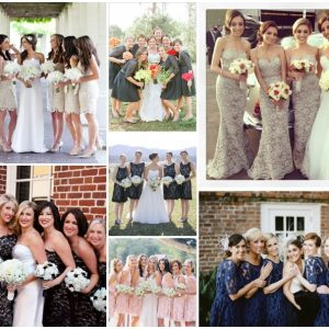 lace bridesmaids dresses