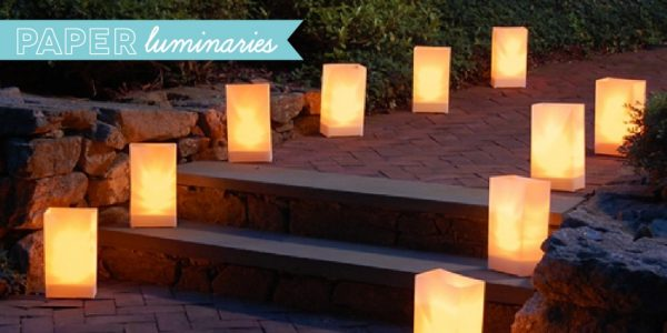 wedding decor and accessories - paper luminaries