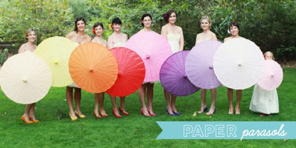 wedding decor and accessories - paper parasols