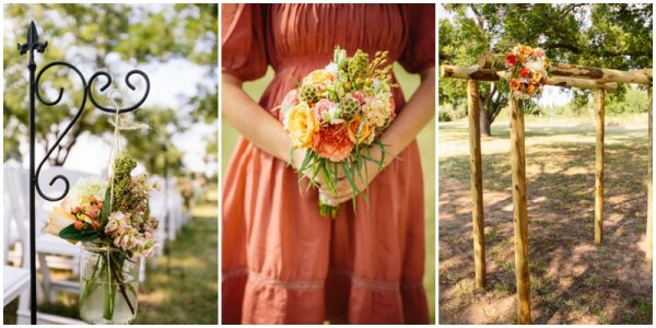 vintage country wedding details