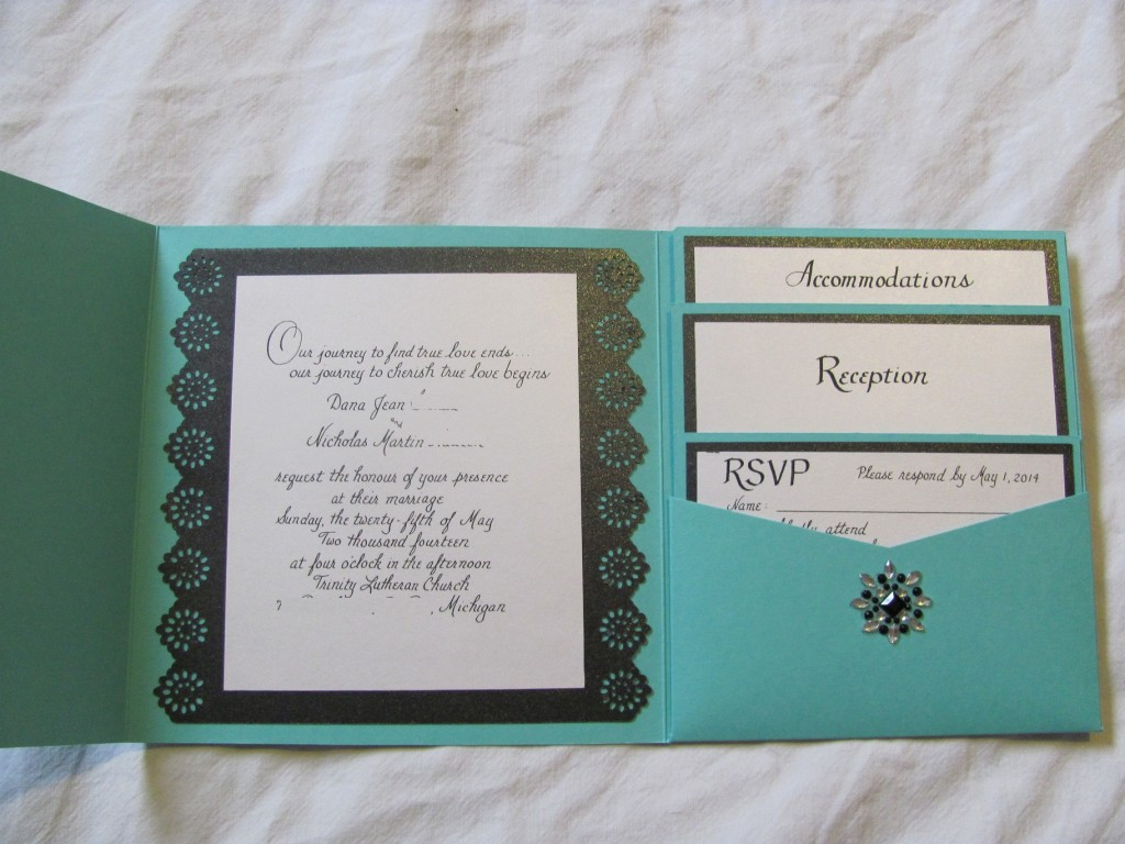 Tiffany Inspired Wedding Invitations (Part 1) | The Budget Savvy Bride