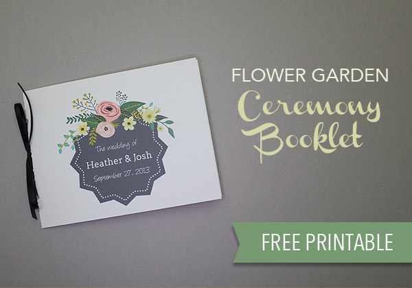Printable Flower Garden Wedding Program | The Budget Savvy Bride