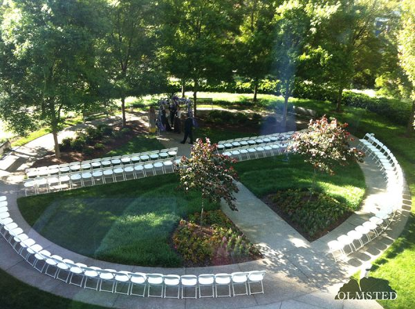 The Olmsted garden ceremony setup