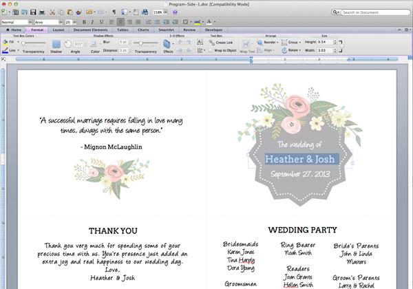 open-the-word-template-flower-garden-ceremony program