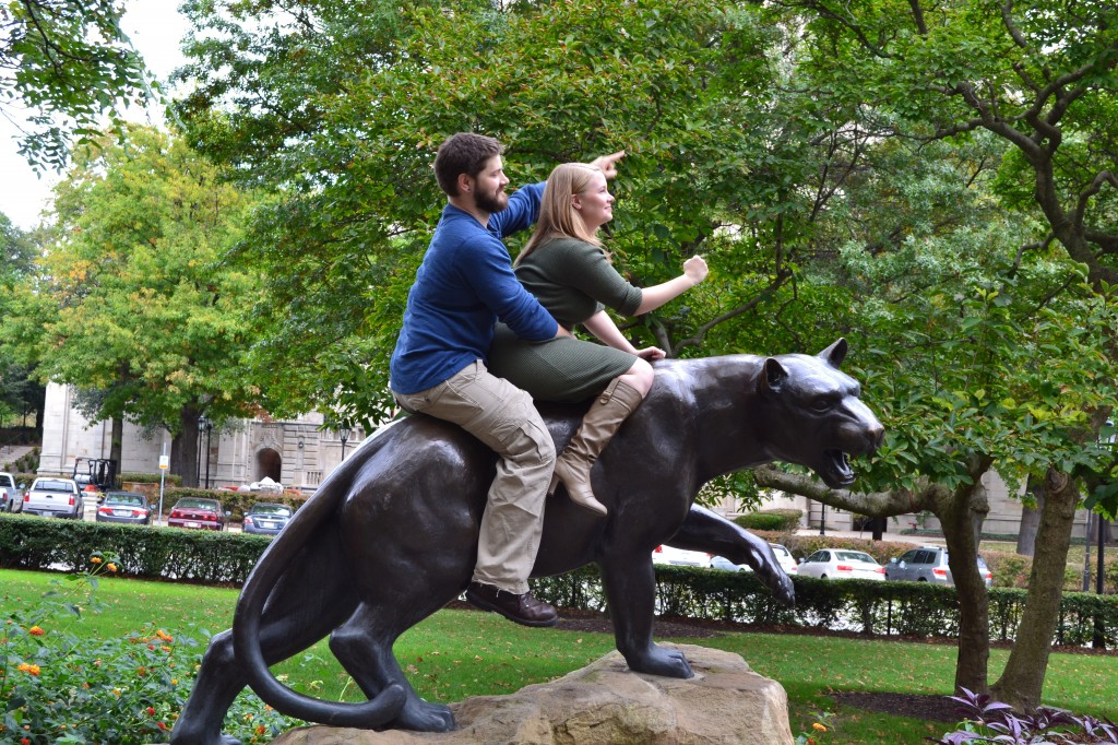 Tim and I on our noble steed. (Photo courtesy of Theresa Dobransky)