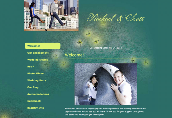 wedding website examples 3