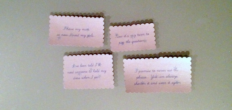 Bridesmaid Invite notes