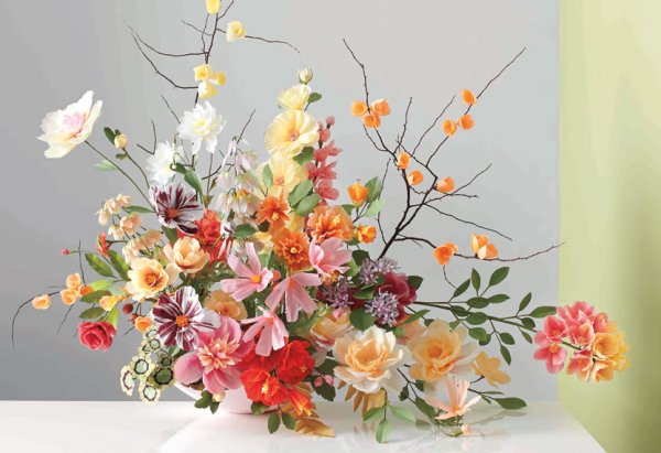 Paper Flower Arrangement from Martha Stewart Weddings