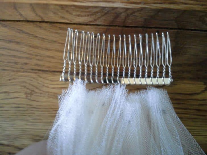 diy wedding veil comb