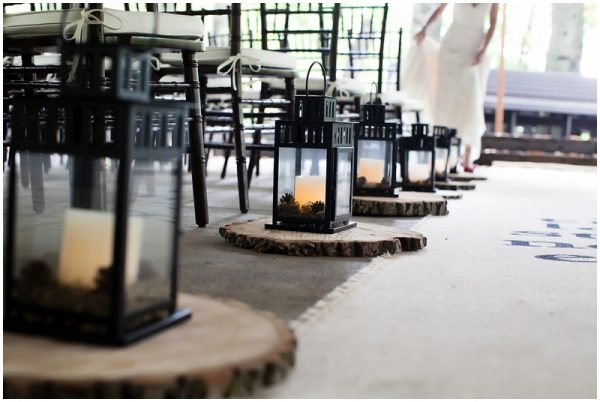 lantern aisle decor