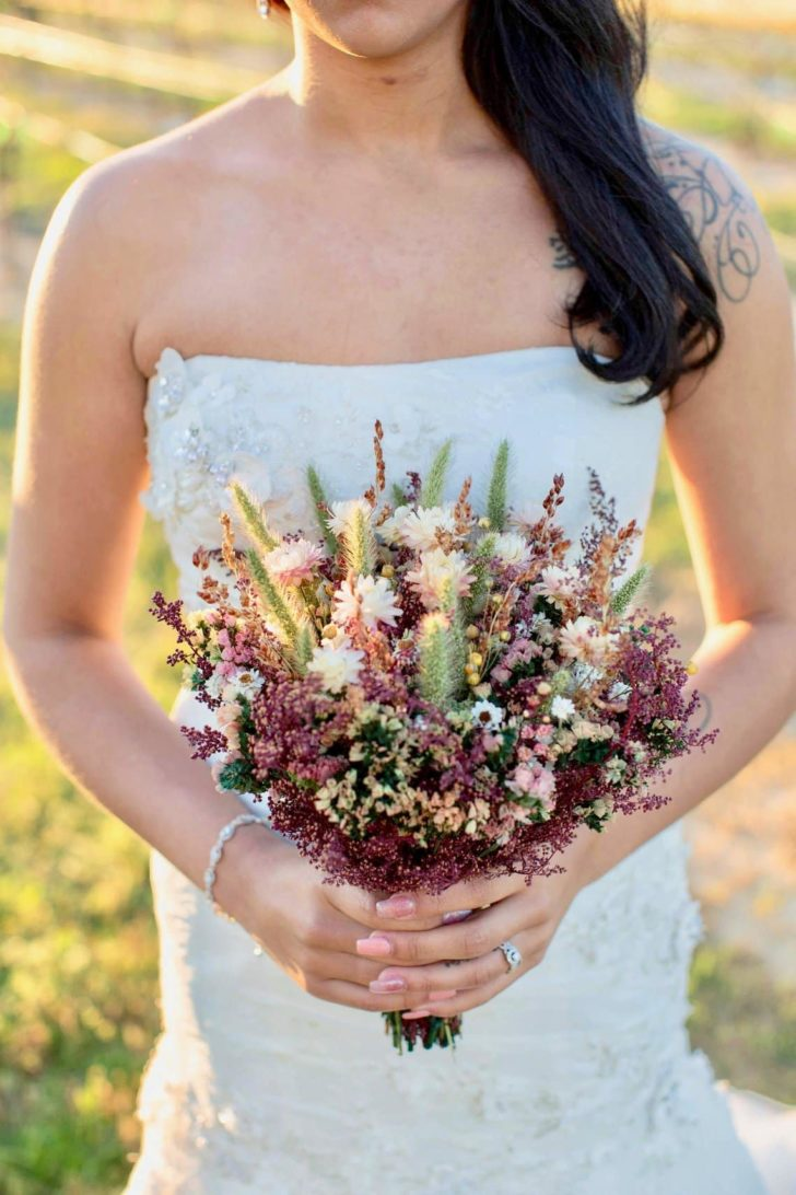 the flower patch - dried wedding flowers