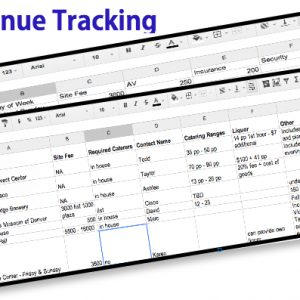 Venue Tracking Spreadsheet Download