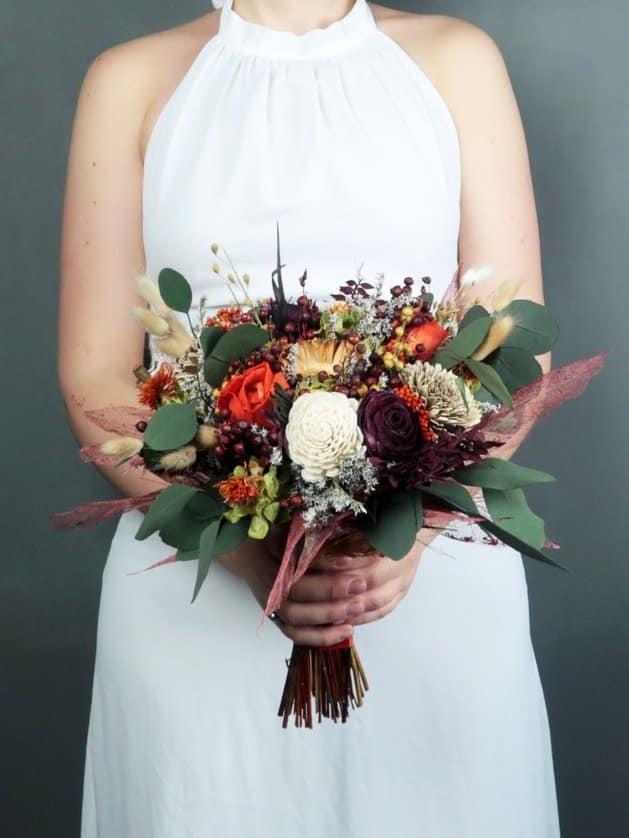 MKedraWedding - dried wedding flowers