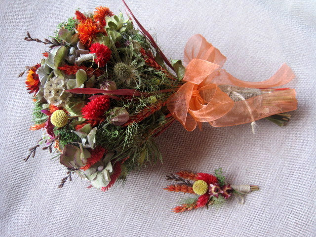 Dried bouquets from FlowerDecoupage on Etsy - Inexpensive Alternative to Fresh Flowers
