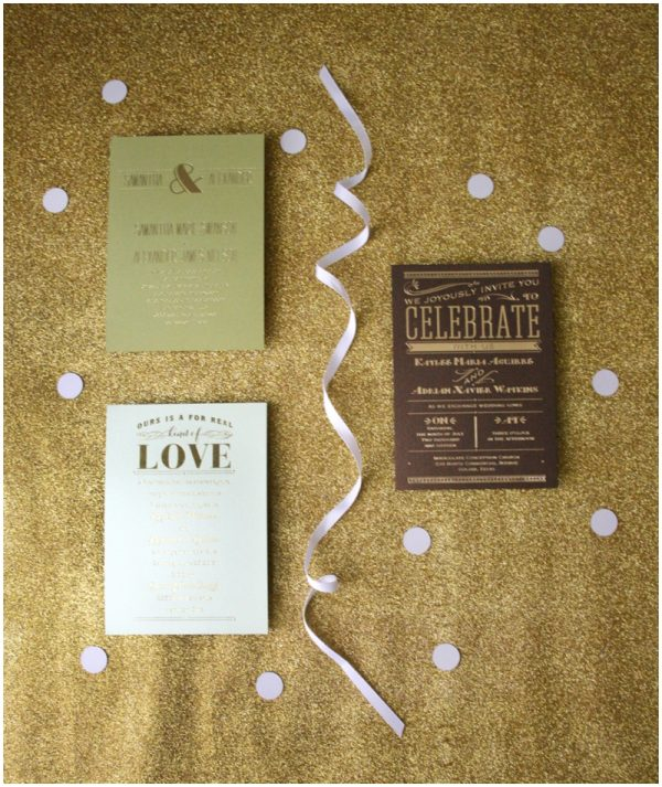 Foil wedding invitations on a budget the budget savvy bride invitations by dawn0002 solutioingenieria Gallery