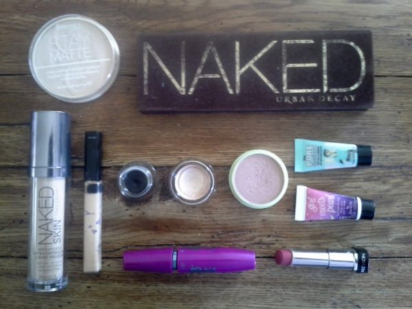 Some of the products I'm using on the big day!