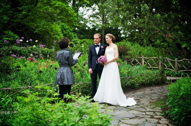 Public Park Wedding - Central Park - Shakespeare Garden