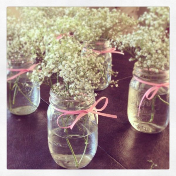 baby's breath table decor