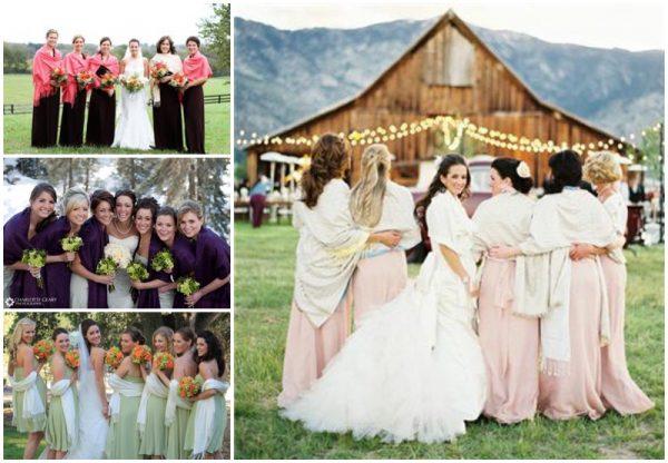 bridesmaids pashminas