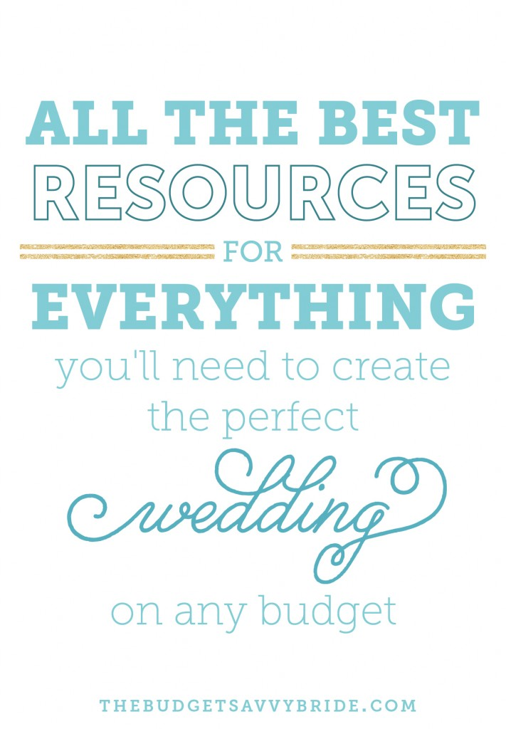 where to buy everything you need for your wedding.