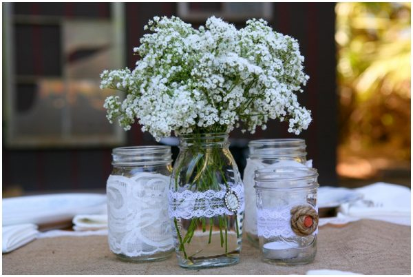 Jenny & Jeff's rustic wedding details