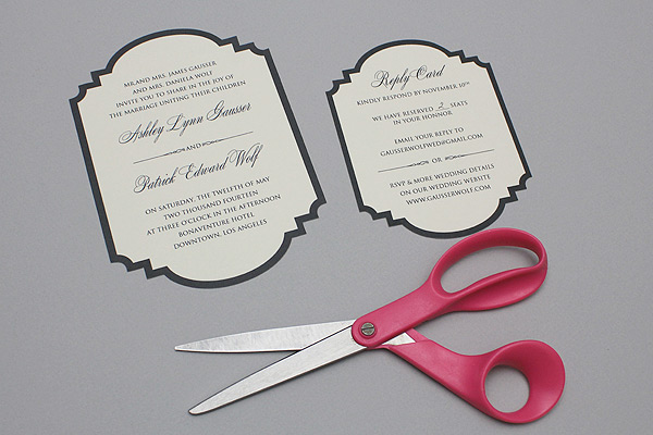 free printable die cut wedding invitation result