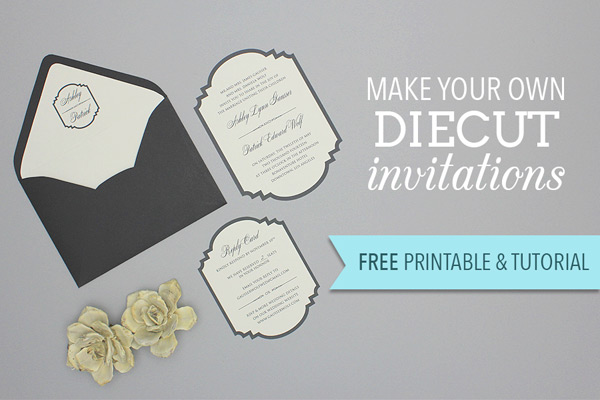 Free Printable Die-Cut Wedding Invitation | The Budget Savvy Bride