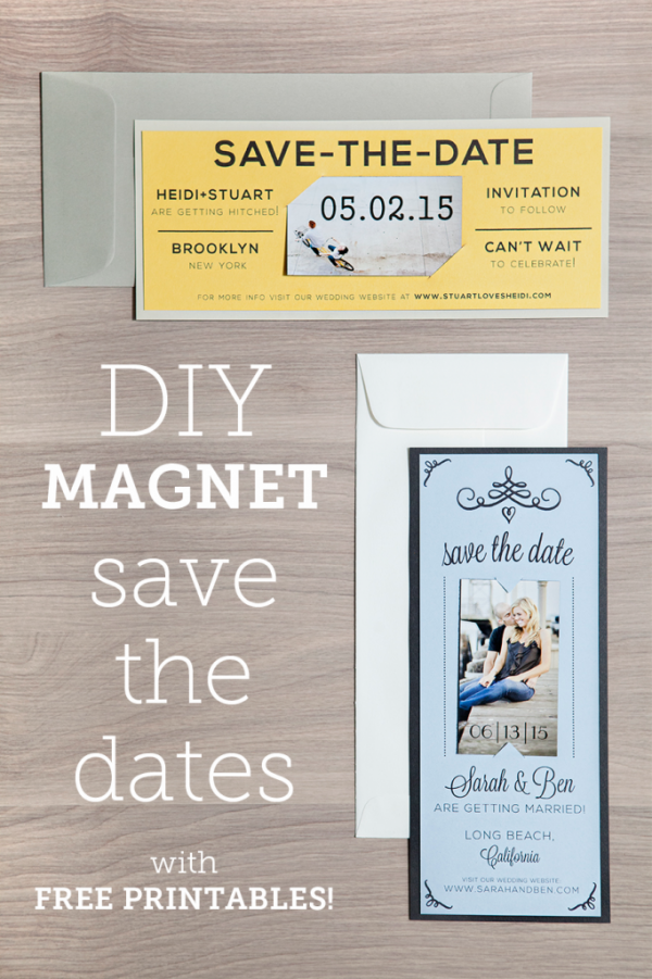 An easy DIY Magnet Save the Date with free Printables and a full Tutorial - don't miss this collaboration with our blogger friend Something Turquoise!