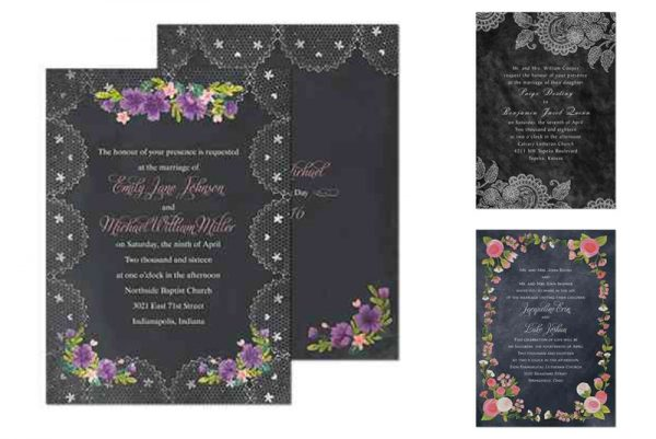 michaels chalkboard wedding invitations