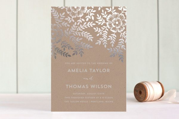 minted lovely rustic chic wedding invitation - Rustic Chic Wedding Invitations