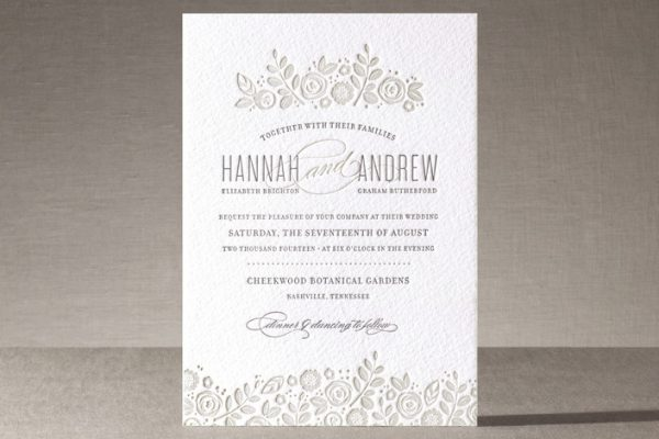 minted - luxe rustic chic wedding invitation