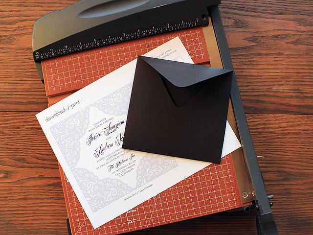 DIY elegant lace wedding invitation