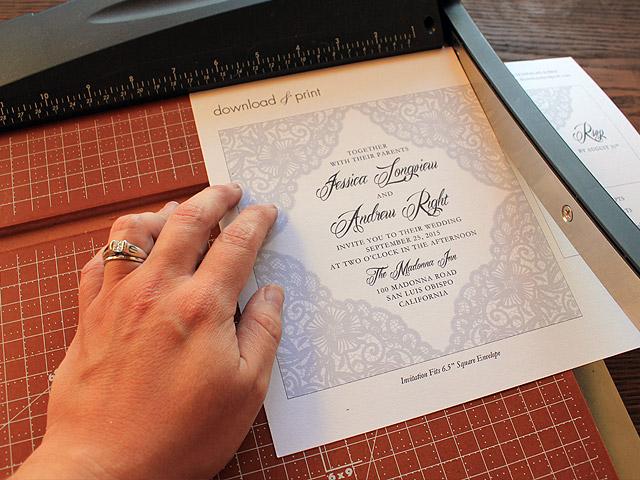 free lace wedding invitation template