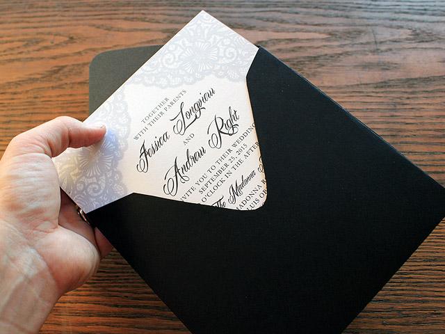 free vintage lace wedding invitation template