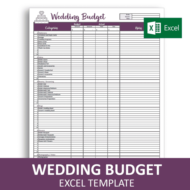 Savvy Spreadsheets Wedding Budget Spreadsheets