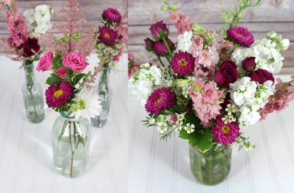 Pink-Wildflower-Wedding-Arrangements