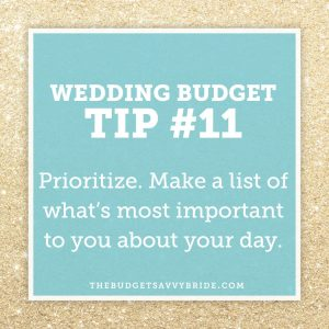 prioritize your wedding