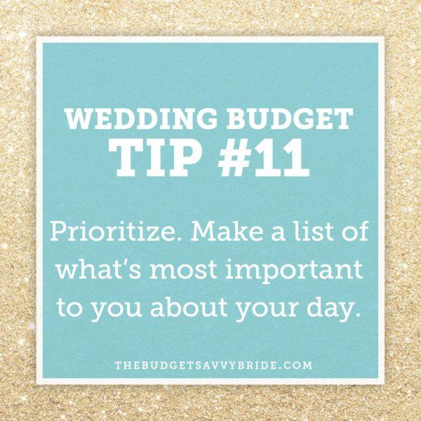 prioritize your wedding