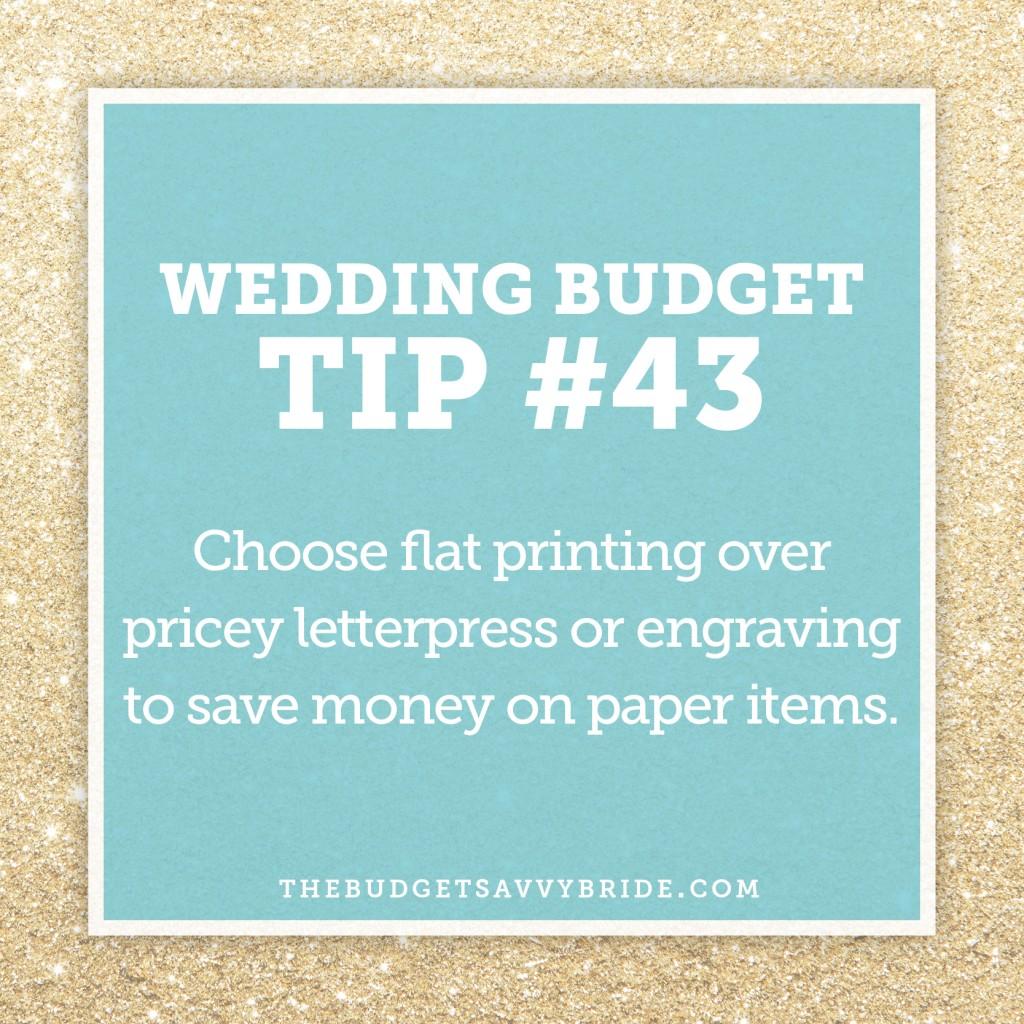 http://thebudgetsavvybride.com/wedding-budget-tip-43/