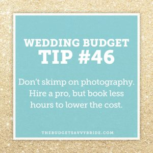 wedding budget tip