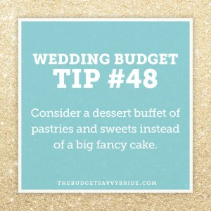 wedding budget tip: wedding dessert buffets