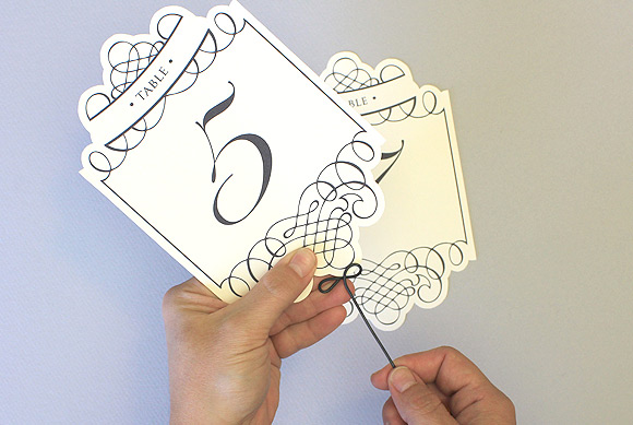 Wedding table number template from The Budget Savvy Bride