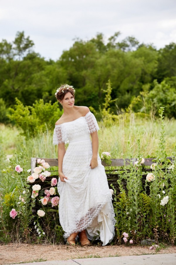 Love Marley by Watters - Everley - $1280 A signature dress for the modern bohemian bride