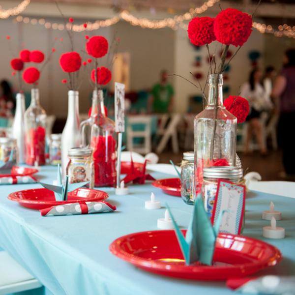 Yarn wedding centerpieces -The Big Affair