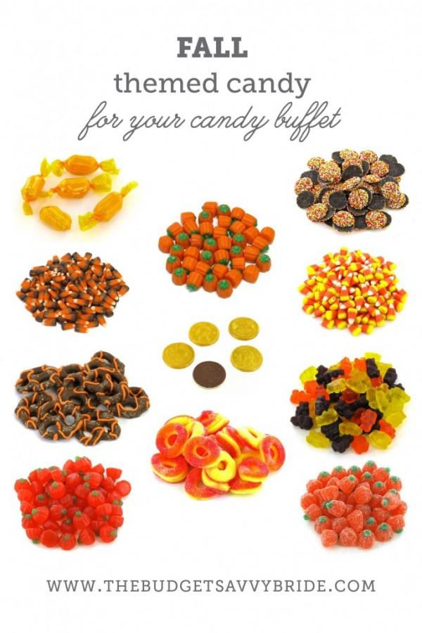 fall candy - candy buffet ideas