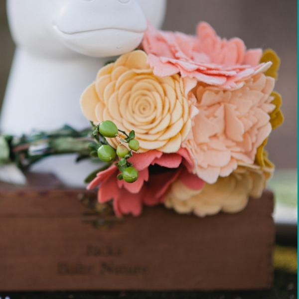 felt wedding bouquet - mnewsom photography