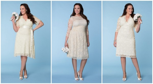 kiyonna - short wedding dresses