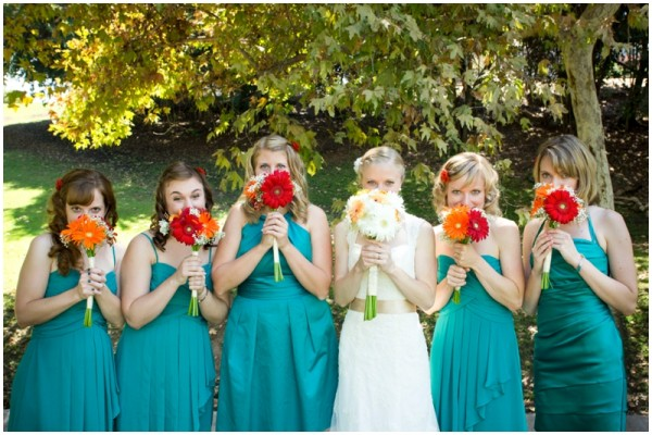 Wedding Party Teal Bridesmaids Dresses