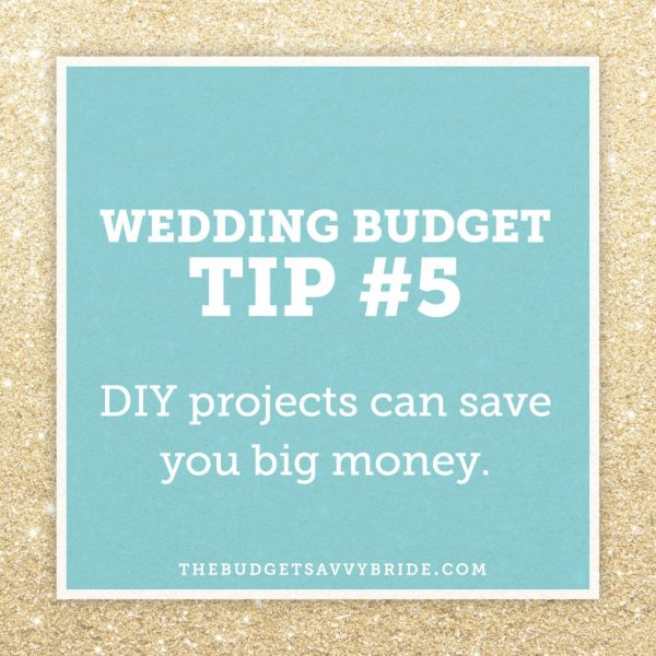 wedding budget tip: DIY projects can save you big money. Click over to this post to learn how!!